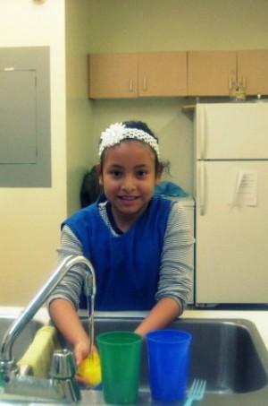 Happy dish-washer